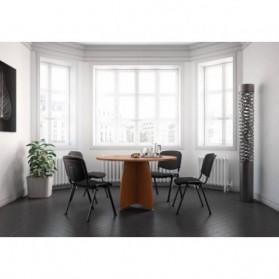 Table de réunion  :  Table de réunion ENSEMBLE ronde pied croix