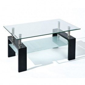 TABLES BASSES :  TABLE BASSE VERRE DANA