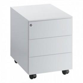 CAISSON :  Caisson mobile Universal - 3 tiroirs - Aluminium