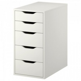 CAISSON :  Meuble Rangement Bureau Ikea Meuble Rangement Bureau Beautiful ALEX Caisson tiroirs blanc