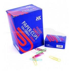 assemblages  :  10 Boites de 100 Trombones plastifiées JKC Couleurs 25 mm
