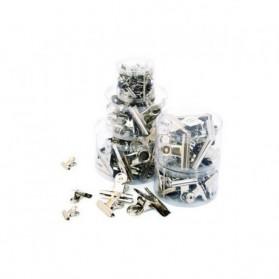 assemblages  :  Boite de 36 attaches-clips métal 22 mm