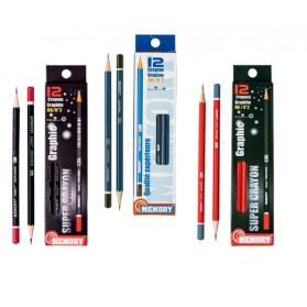 Crayon et porte mine :  Crayon graphites MEMORY HB/N°2