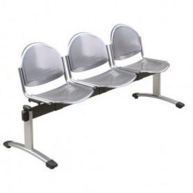 banquette d'accueil  :   Banc pour salle d'attente Oker - 3 places